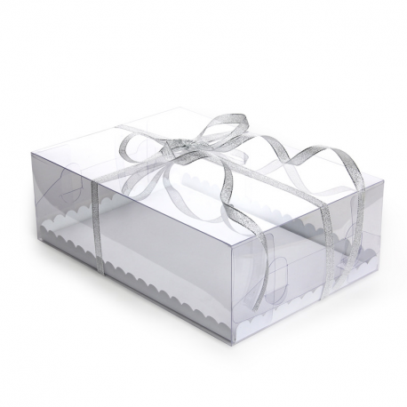 Boite à gâteau rectangulaire transparente