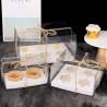 Boite transparente pour Cupcakes avec ruban