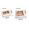 Boite Carton avec fenêtre pour cupcakes