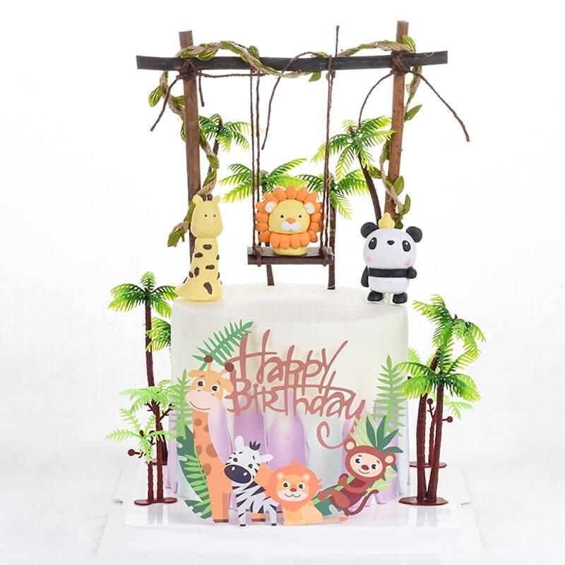 Kit décoration gâteau animaux Safari et Jungle