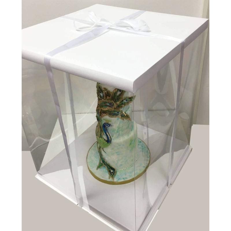 Caja para tartas Expo blanca 21x21x24 cm