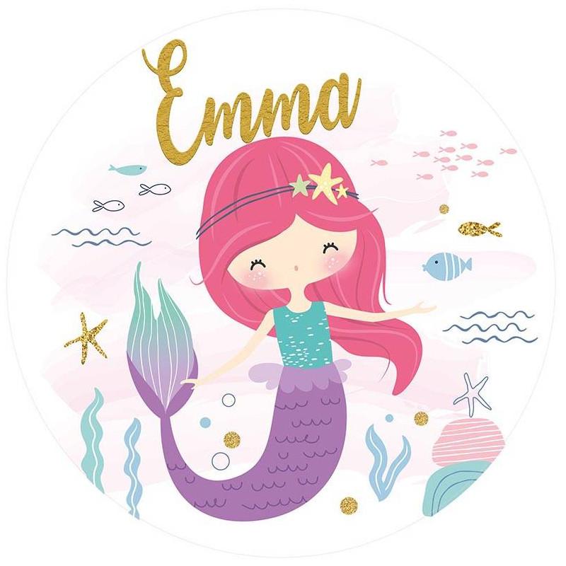 Personalized mermaid food printing