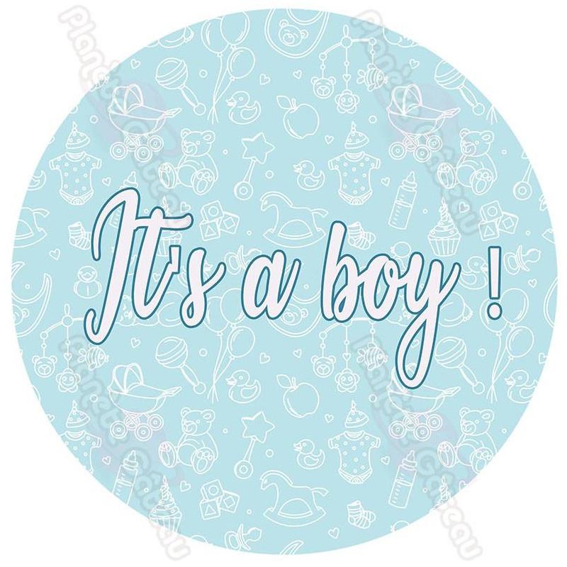 Baby shower boy food print IT'S A BOY