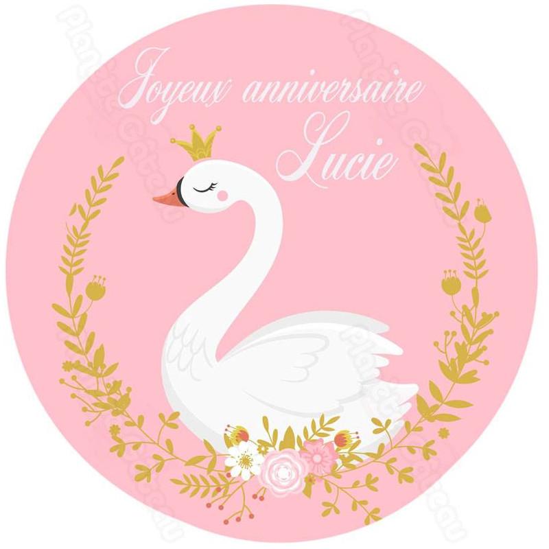 Impresión de alimentos personalizados de Swan Princess