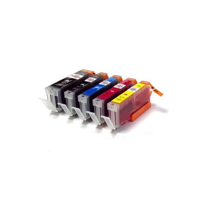 Set of 5 cartridges for V4 kit filled with food grade ink