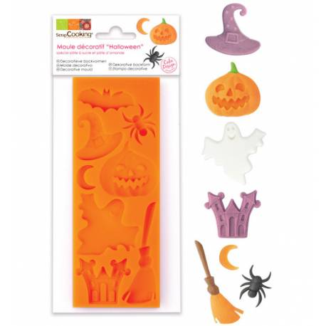 Halloween silicone mold - 8 decorations