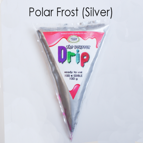 Perfect drip Crystal Candy Silver Icing 100 g