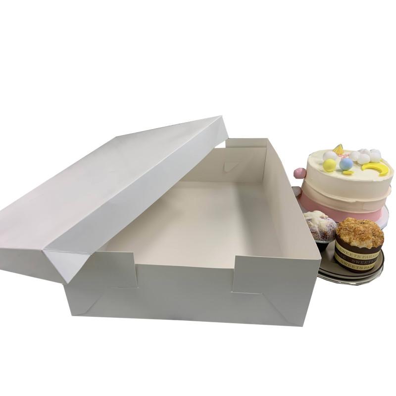 Caja de pastelería alta 15cm rectangular 30x40cm