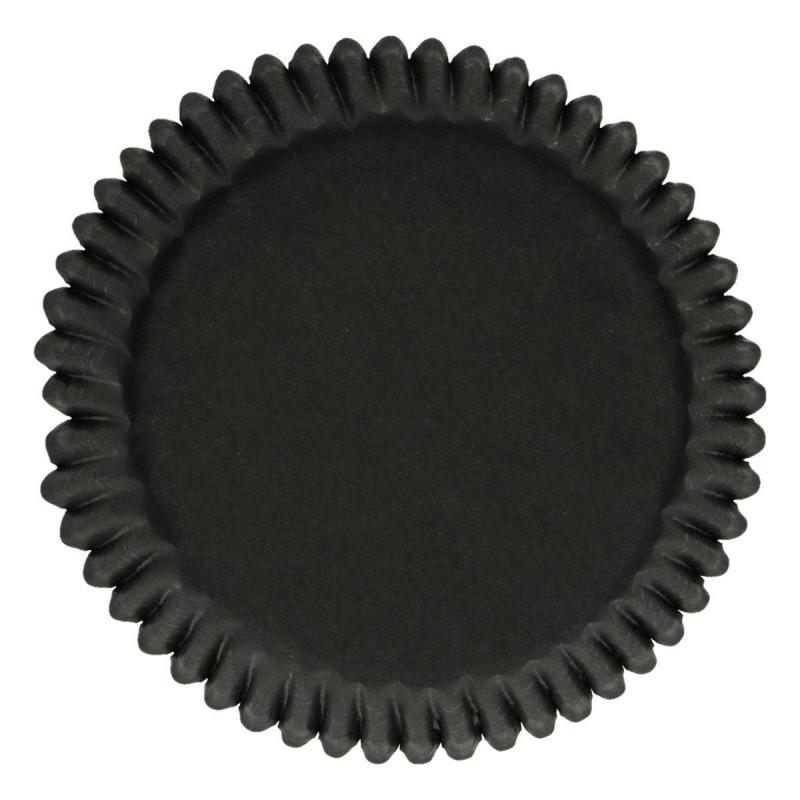 Caissettes à cupcakes noires Funcakes - x48