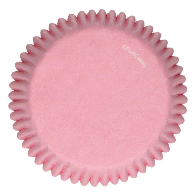 Estuches para cupcakes de color rosa claro Funcakes - x48