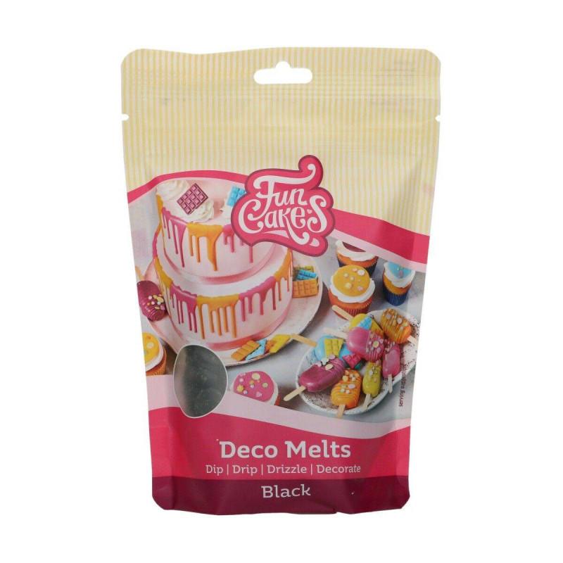 Deco Melt color black Funcakes 250 g