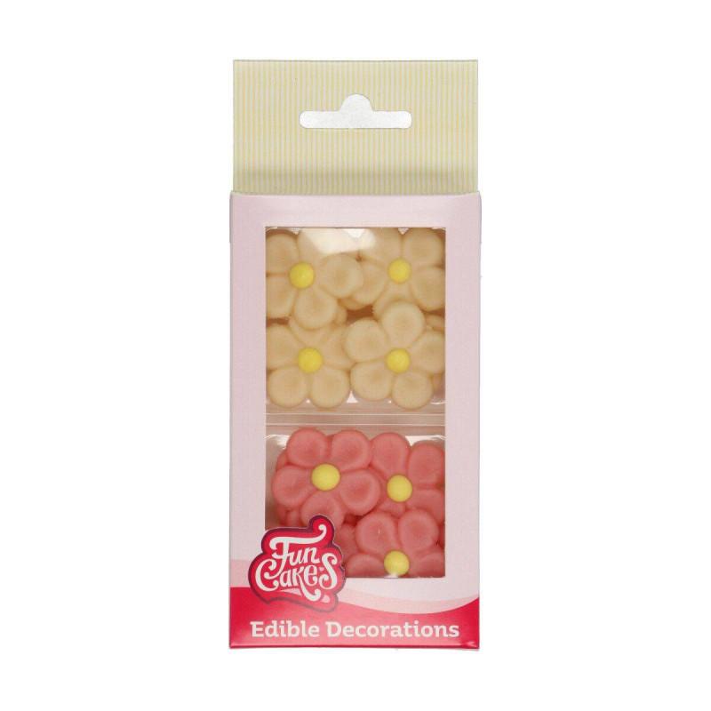 Margaritas de mazapán rosa y crema x12