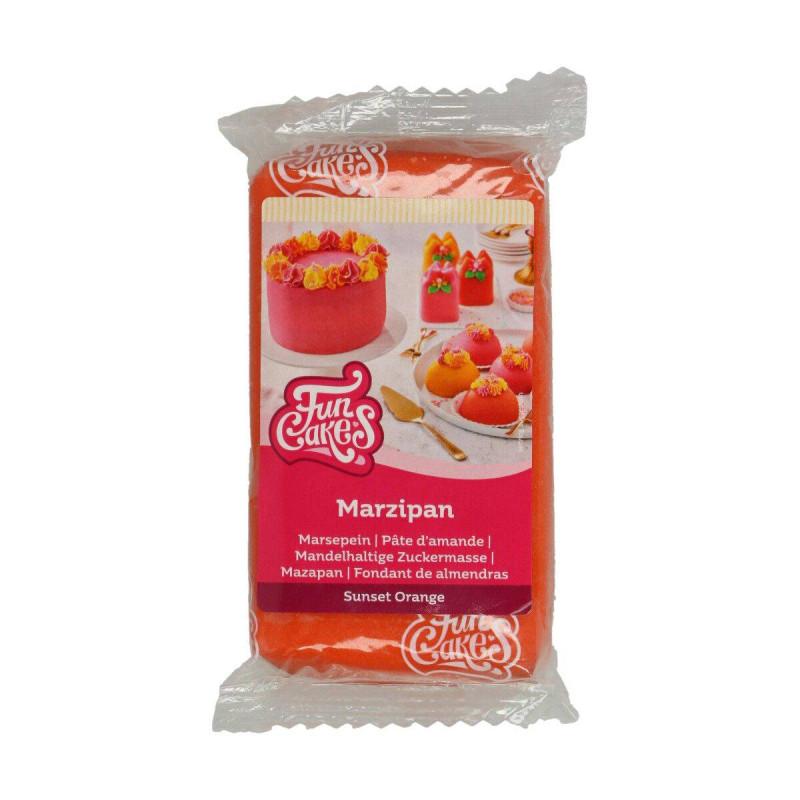 Pâte d'amandes orange Funcakes 250 g