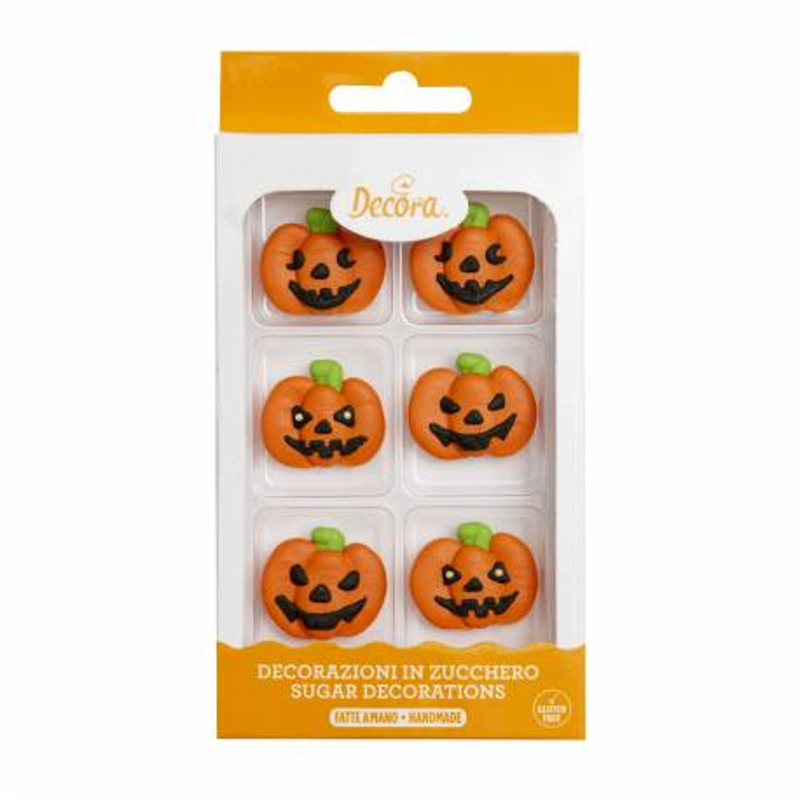 Halloween pumpkin sugar decorations -x6