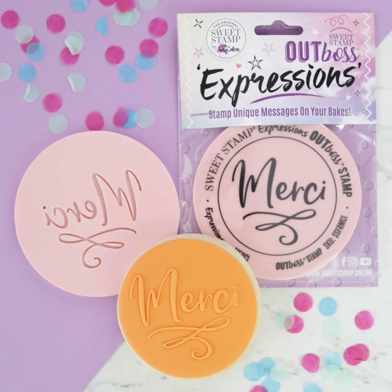 Cookie embosser Merci Sweet stamp