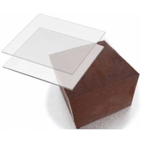 2 square acrylic trays for right angle ganache - 4 sizes