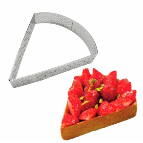 Perforated metal circle for pie