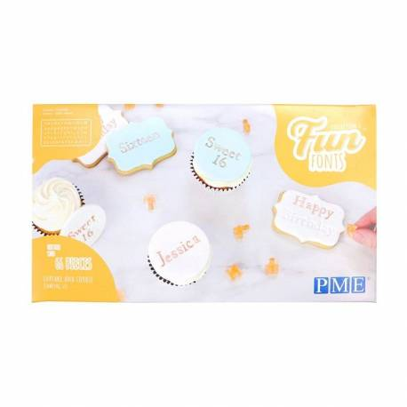 Letter and number cookie embossers PME collection 2
