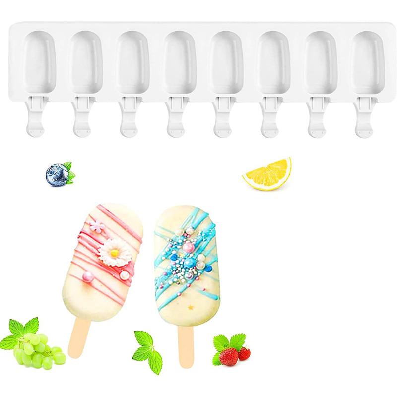 Moule mini popsicle 7cm en silicone pour 8 glaces