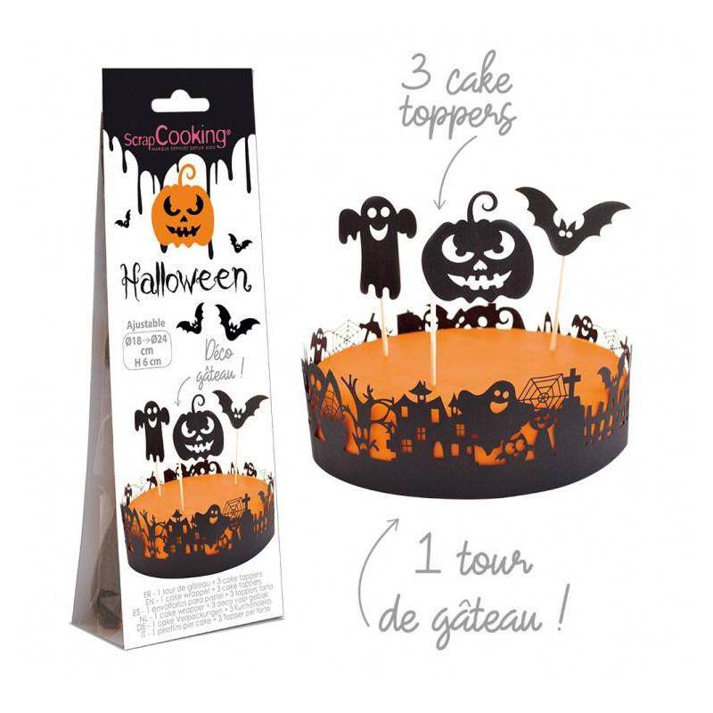Tapas y contornos para tartas de Halloween