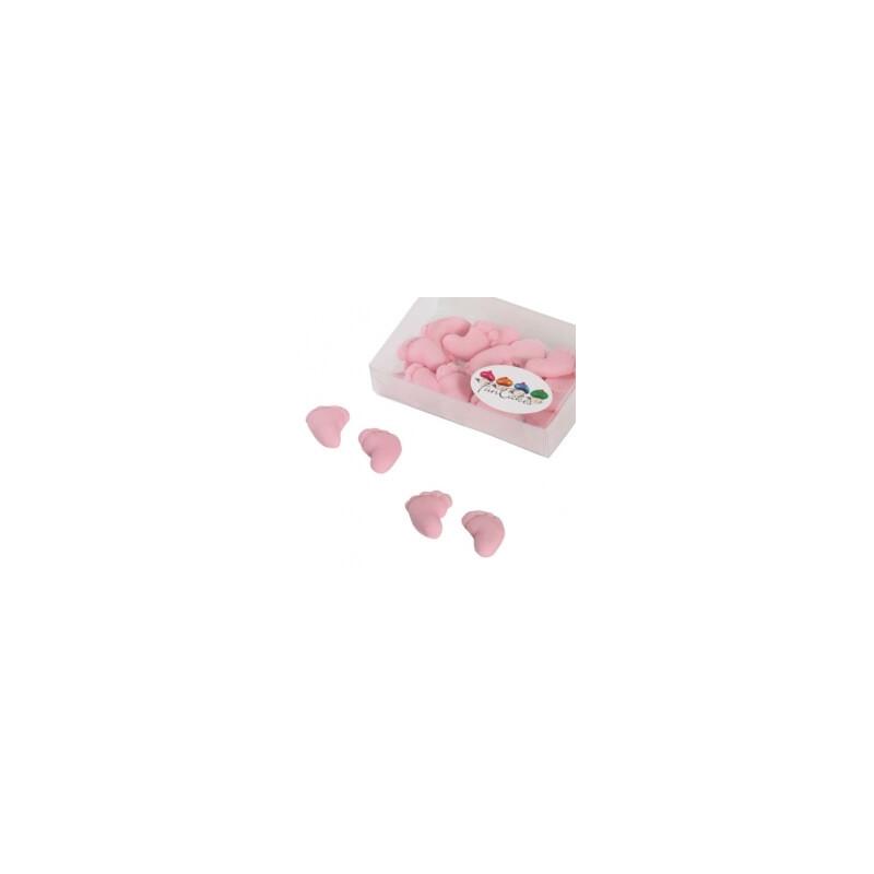 16 Pies de bebé rosas en azúcar - NIÑAS