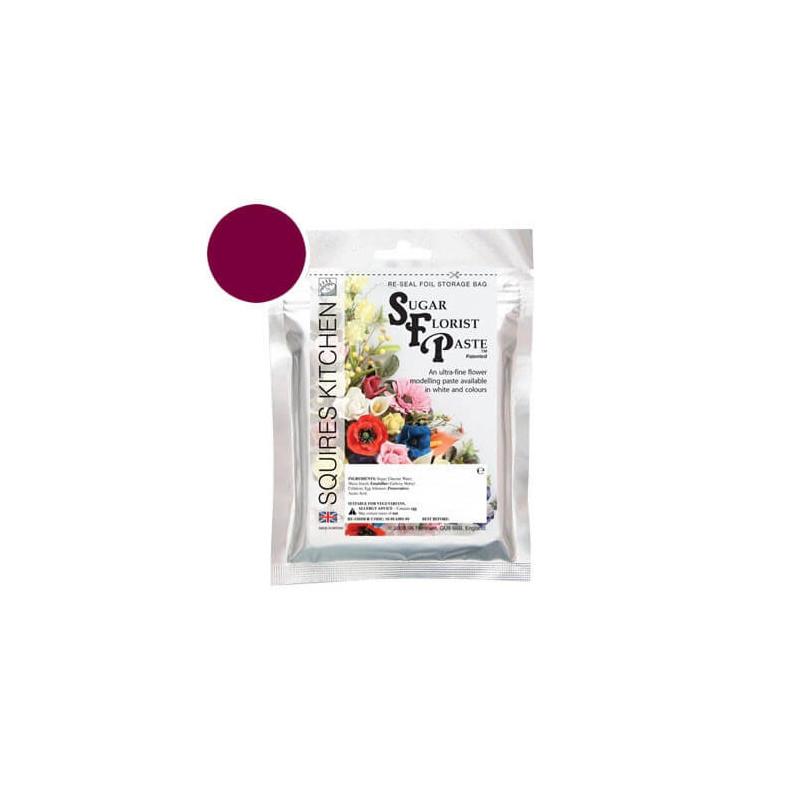 pâte à fleurs Squires Kitchen rouge RUBY - 100g