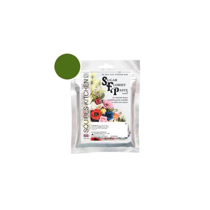 squires Kitchen Flower Paste DARK GREEN Kitchen - 100g