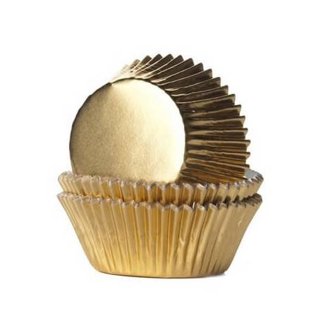 36 Mini GOLD or GOLDEN cupcakes boxes