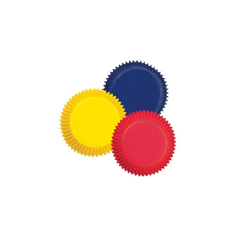 100 Mini cápsulas rojo, amarillo, azul Wilton