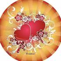 Disque azyme Coeur amour