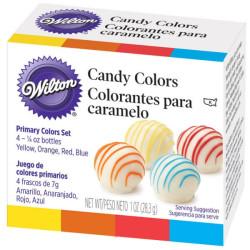 4 colorants à chocolats Wilton