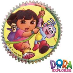 50 Caissettes cupcake DORA l'exploratrice