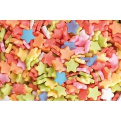 Confetti en sucre d'étoiles multicolores