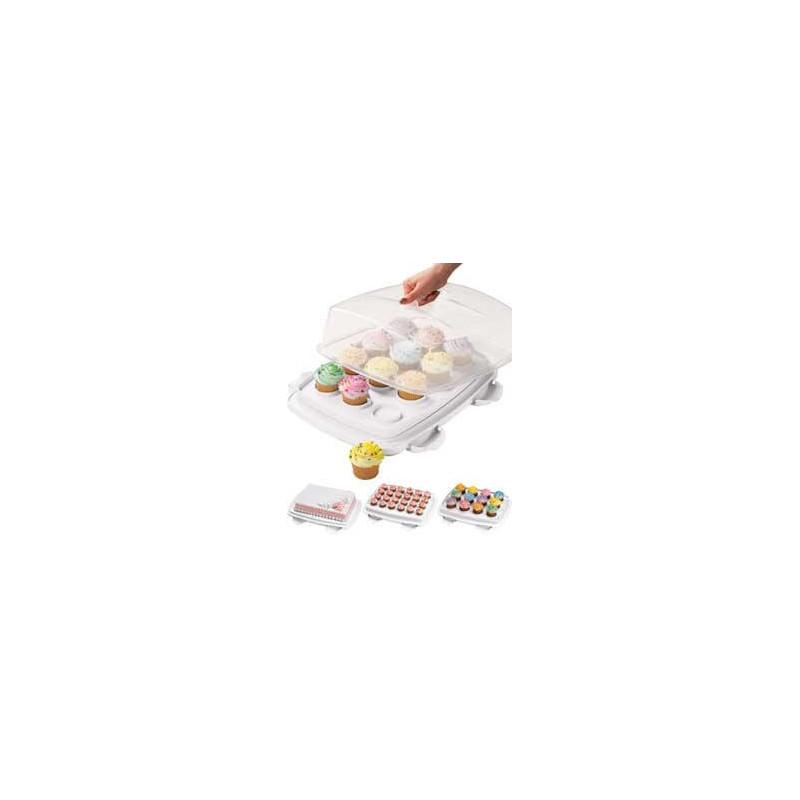 boite transport cupcakes et gateaux ultimate 3 en 1 cake. Black Bedroom Furniture Sets. Home Design Ideas