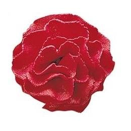 Flower sugar Carnation red - 3.5 cm