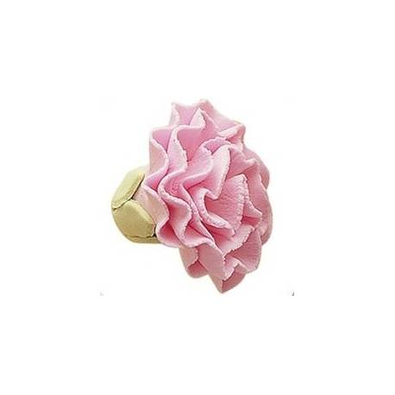 Fleur en sucre OEILLET ROSE - 3,5cm