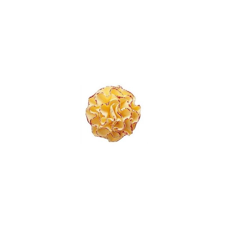 Sugar flower ORANGE EYE - 3,5cm