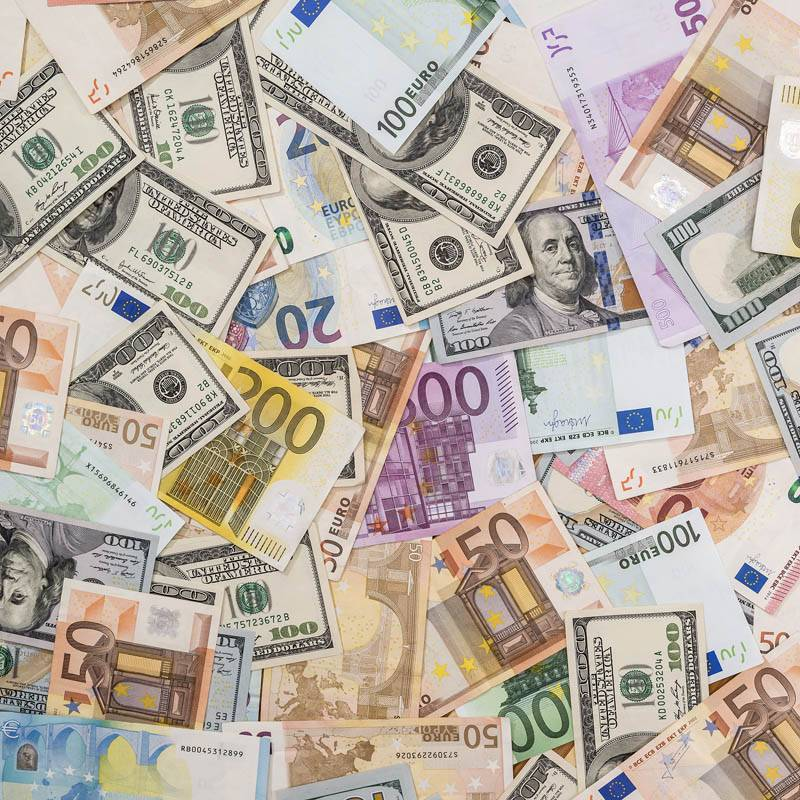 Billets argent Euro Dollard