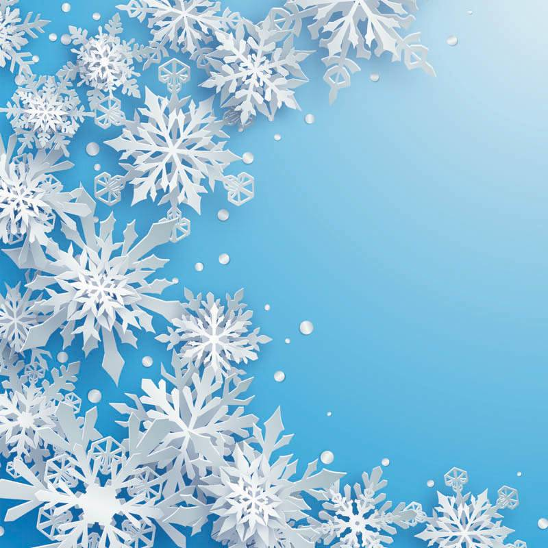 Neige hiver et flocon