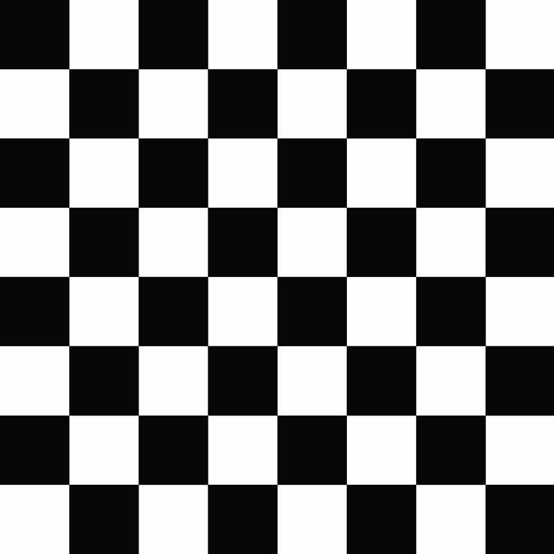 Damier noir et blanc échiquier