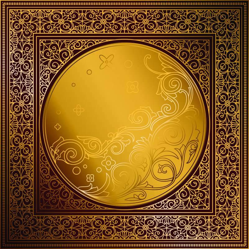 Fresque orientale dorée