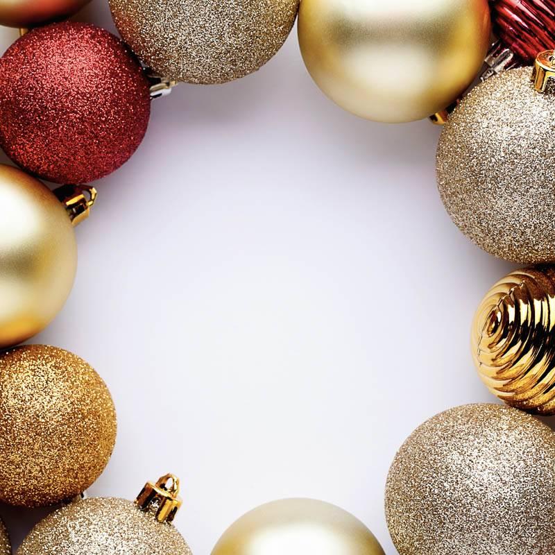 Boules de Noel en cercle